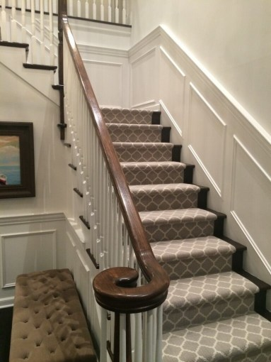 Stair Carpet   Gain Inspiration and view Stair Carpet Projects Stanton s Carnegy in Platinum Stair Carpet