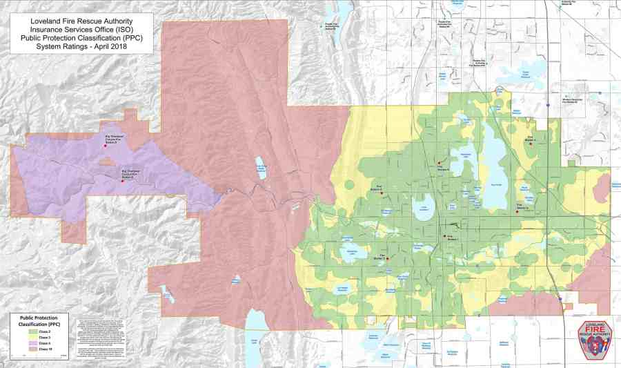 ISO Rating   Loveland Fire Rescue Authority   Loveland  CO ISO Ratings Map