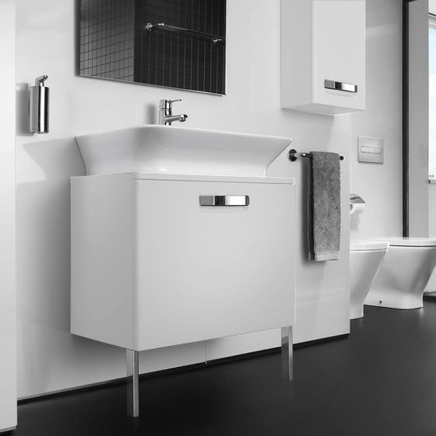White Kitchen White Tiles