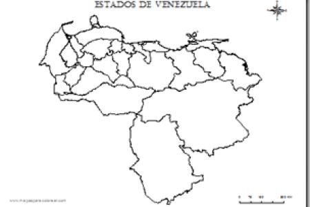 best Mapa De Venezuela Con Sus Estados Y Capitales Para Pintar image ...
