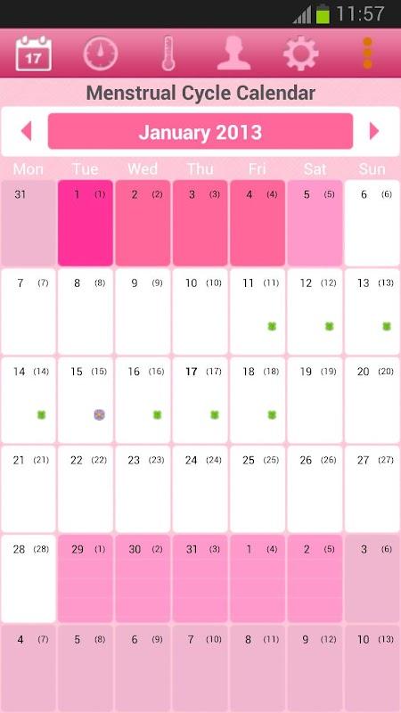counting menstrual cycle calendar - 450×800