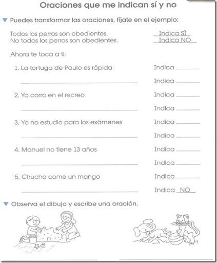 De Primero De Primaria Imprimir Oraciones Para