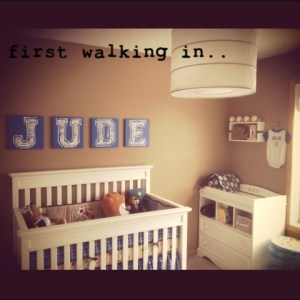 Life as a Wife   Jude s Vintage Sports Nursery  Josh was is a big sports guy  He grew up playing every sport possible and  we are excited for Jude to play sports too  whether he likes it or not      ha