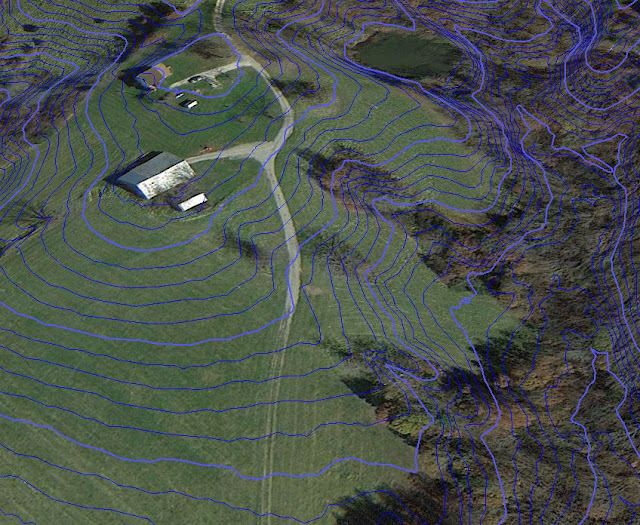 Contour maps for cheap  earthworks forum at permies  It s a 2 step process  A  Getting the LiDAR data from the USGS  B   Converting it to a Contour Map you can see on Google Earth