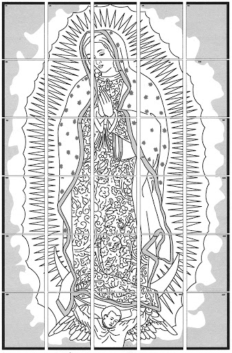 our lady of guadalupe coloring page # 51