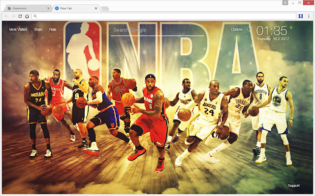 NBA All Stars Basketball Wallpaper HD New Tab   Chrome Web Store