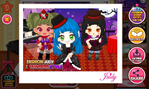 Fashion Judy  Vampire style APK 1 510   Free Casual Apps for Android     Fashion Judy  Vampire style apk screenshot