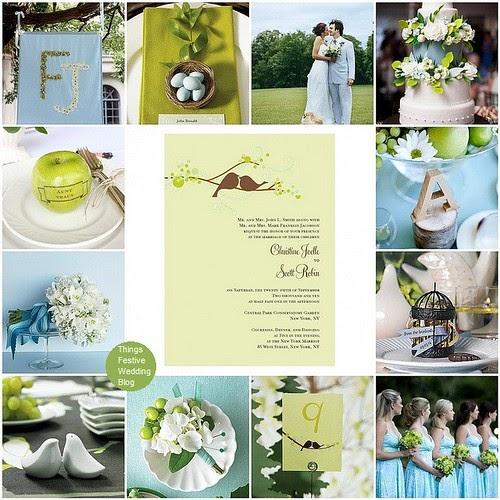 Love Bird Wedding Theme Robin S Egg Blue Amp Apple Green Things Festive Weddings Amp Events