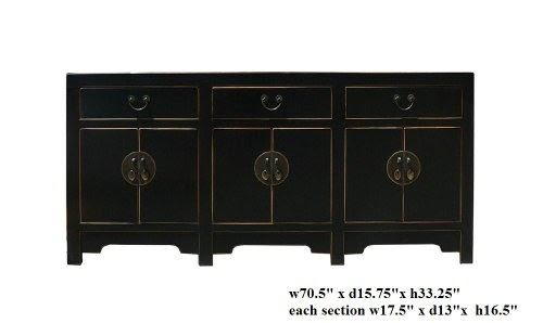 New Sideboards Black Black Lacquer Moon Face Console
