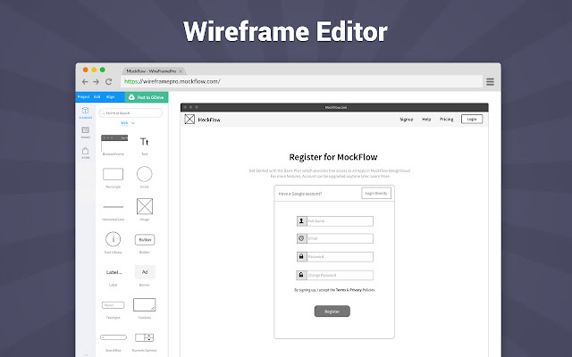 MockFlow   Chrome Web Store Online Wireframe Tool