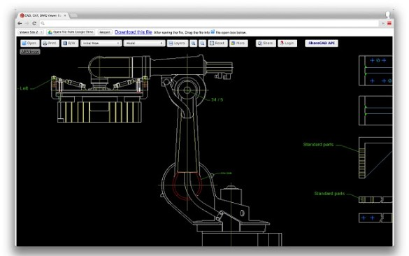 CAD  DXF  DWG Viewer for Drive   Chrome Web Store AutoCAD  DXF and DWG Viewer for Google Drive  It is a tool that allows you  to view CAD files  DXF  DWG     in your browser