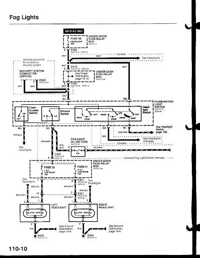 Honda Civic Fog Light Diagram Wiring Diagram Data Val