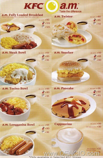 Price Philippines List And Menu Kfc