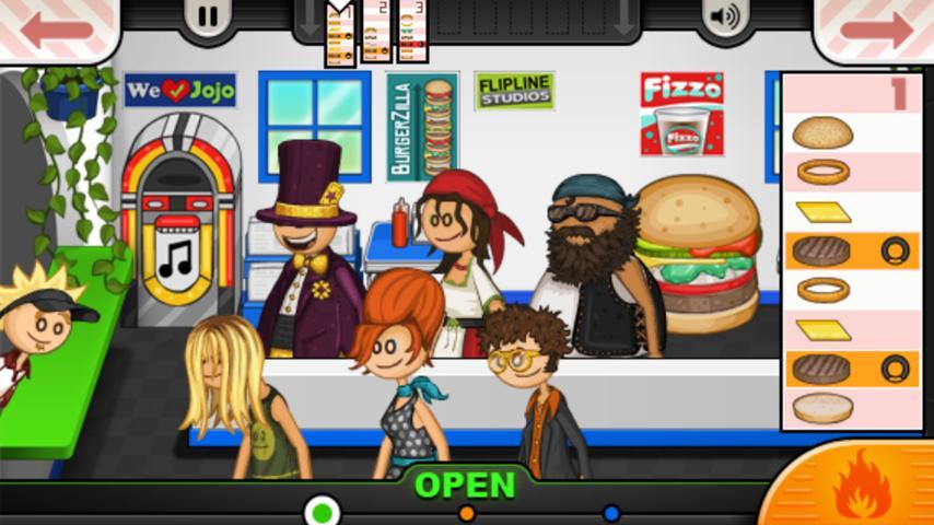Restaurant Games Papas Burgeria