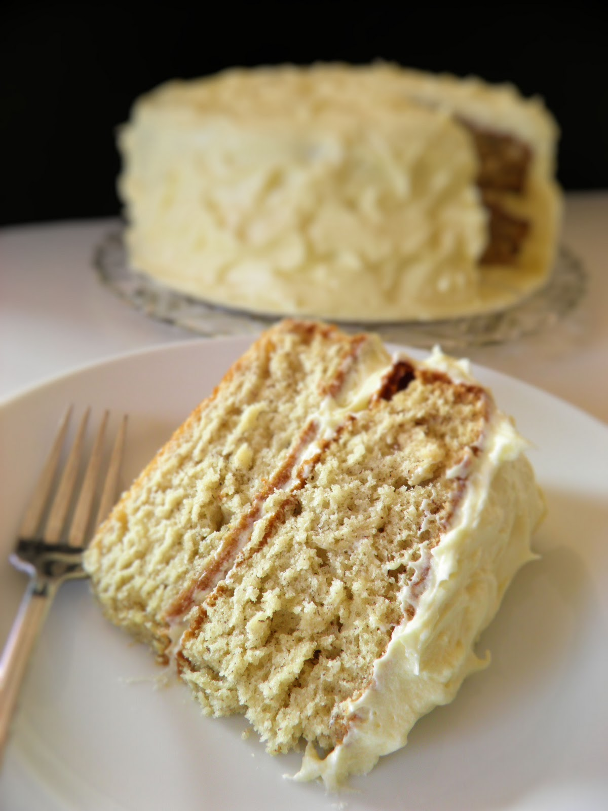 Banana Cake With Rum Cream Cheese Frosting Dulce Dough