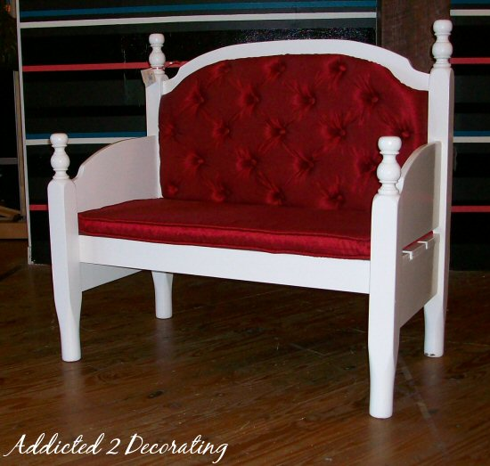Bench Made From A Headboard And Footboard Addicted 2