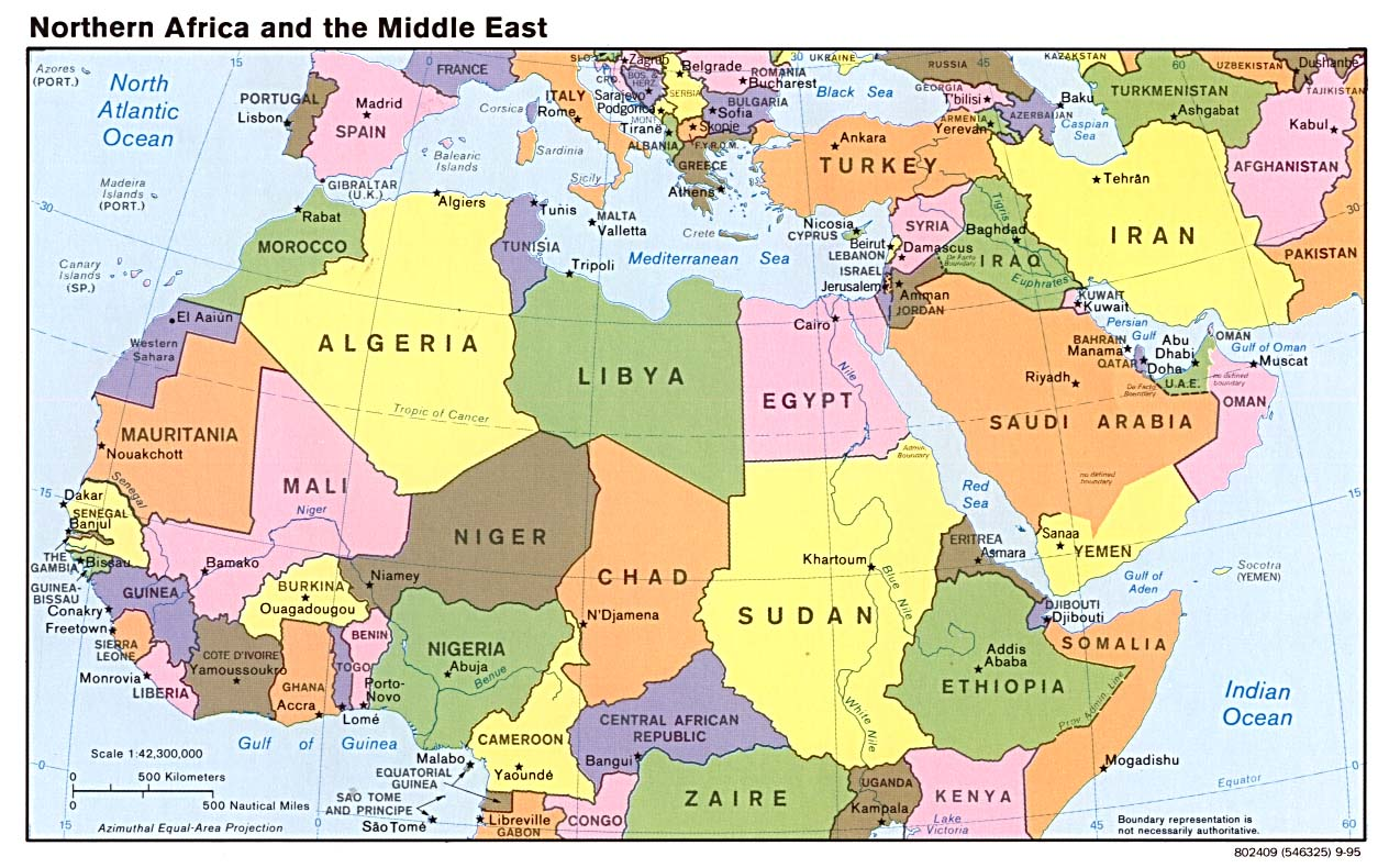 Middle East Map No Labels