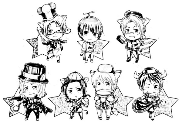 hetalia coloring pages # 6