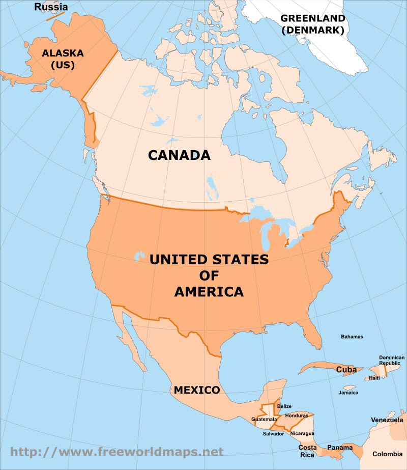 north america countries - 800×923