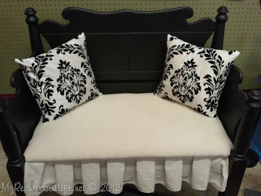 Upholstered Headboard Bench My Repurposed Life 174