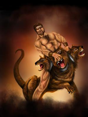 Hercules vs Cerberus by KevinStanton77