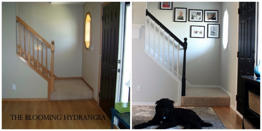 How I Painted Our Oak Trim White