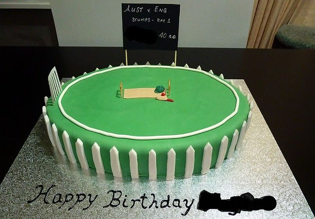 A Delicious Year Cricket Cake