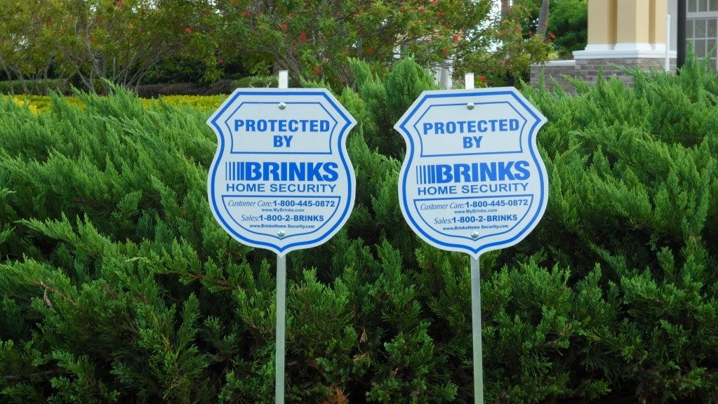 Brinks Home Security Alarm System Yard Sign