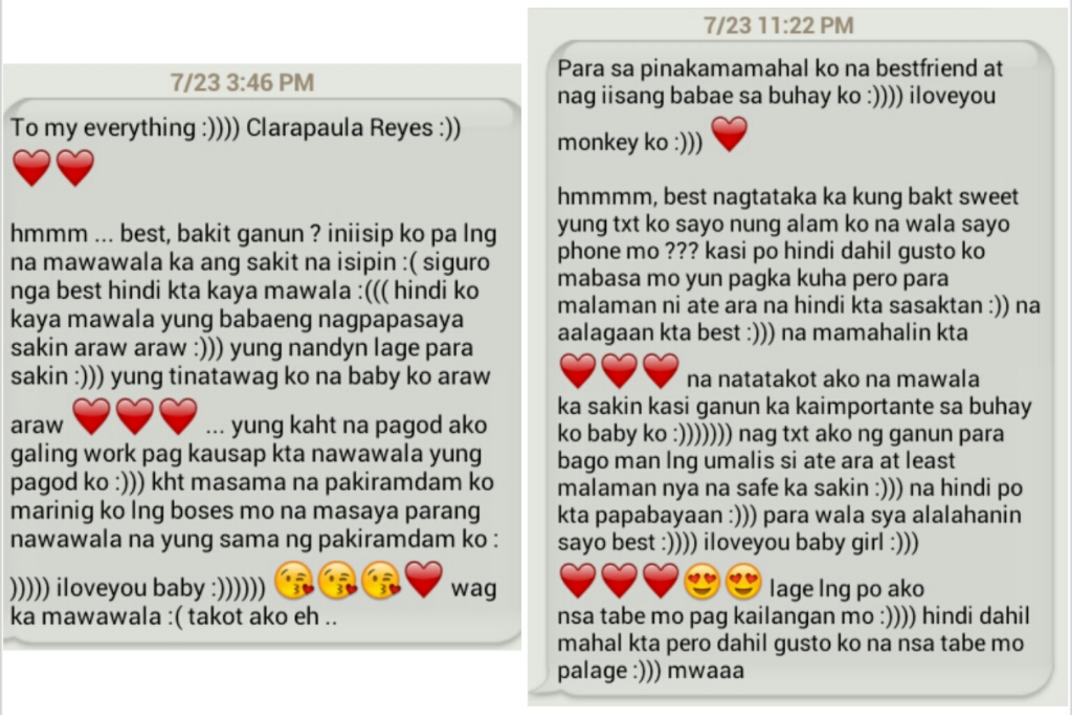 Tagalog Long Sweet Messages Boyfriend