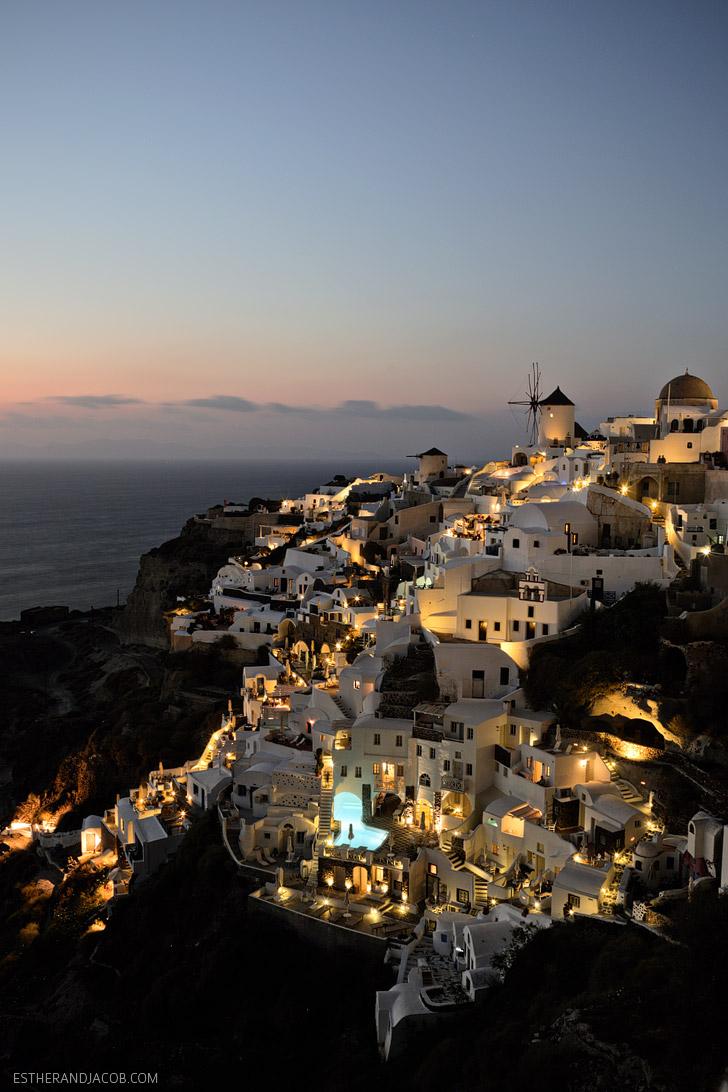 Best Sunset In Oia Santorini Greece Oia Castle
