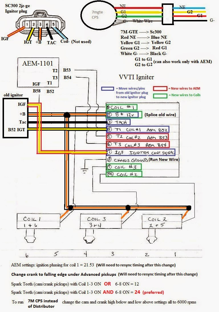 2jz Gte Ignition Wiring Diagram Schematics Z32 Engine Coil Big 3 Diagrams