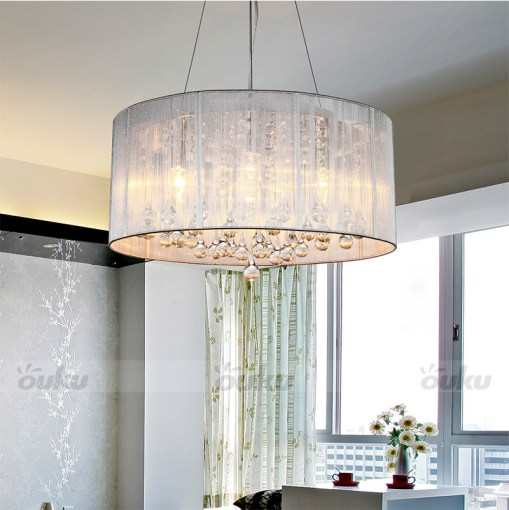Hot DRUM SHADE CRYSTAL CEILING CHANDELIER PENDANT LIGHT FIXTURE     Hot DRUM SHADE CRYSTAL CEILING CHANDELIER PENDANT LIGHT FIXTURE LIGHTING  LAMP   eBay