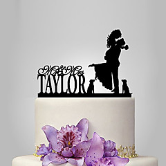 Cheap Cake Toppers Online   Cake Toppers for 2018 Cake Topper Garden Theme   Classic Theme Classic Couple Acrylic Wedding    Anniversary   Bridal Shower with 1 pcs OPP