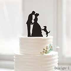 Cheap Cake Toppers Online   Cake Toppers for 2018 Cake Topper Classic Couple Acrylic Wedding Anniversary Bridal Shower with 1  OPP