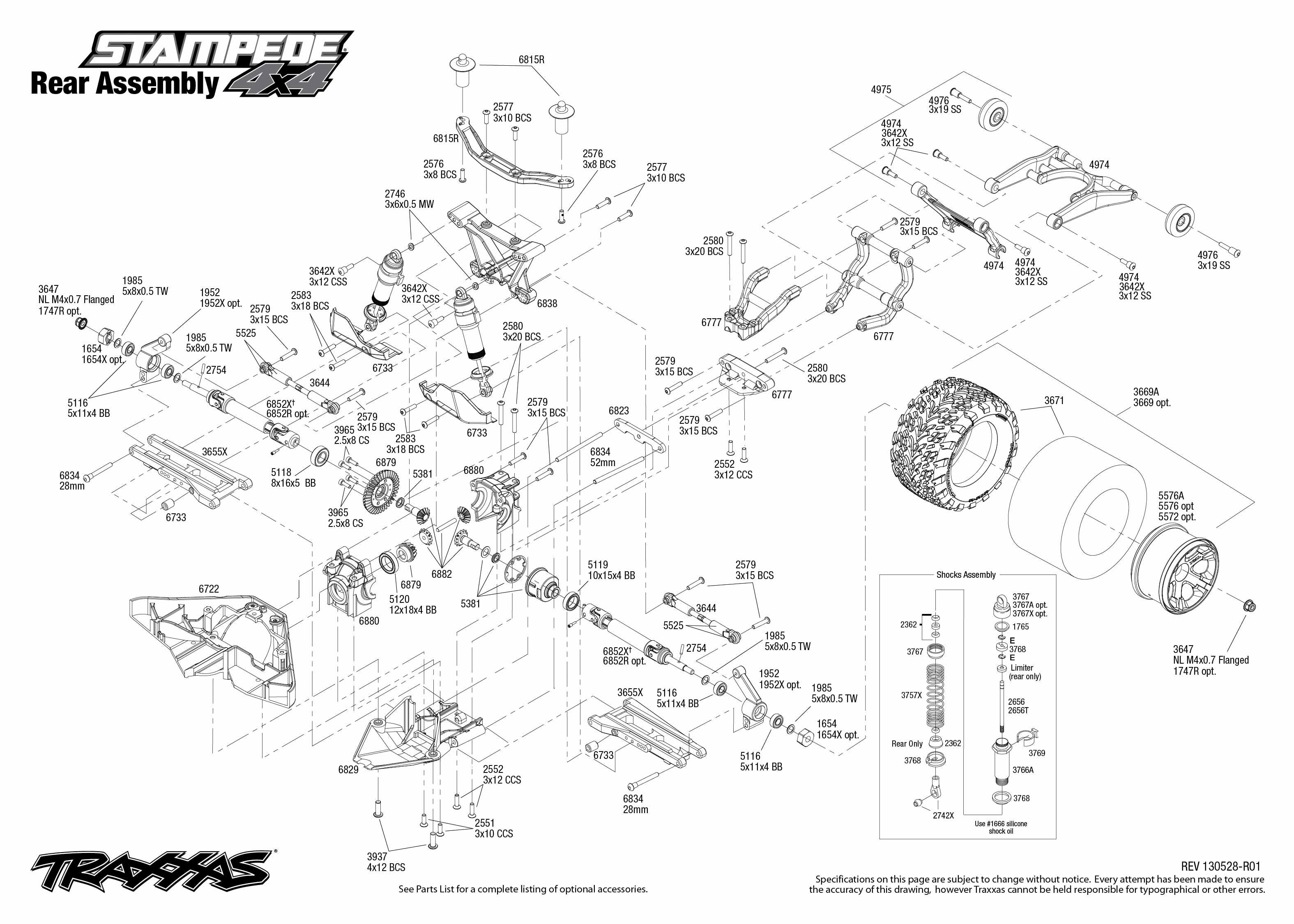 Traxxas Nitro Rustler Parts Manual Diagram For