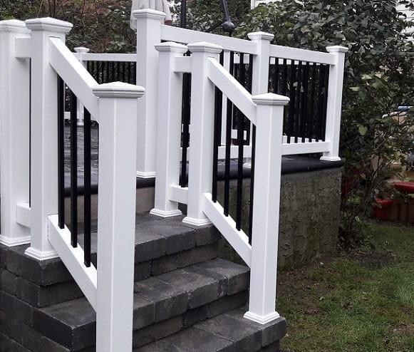 Outdoor Vinyl Pvc Aluminum Railings Liberty Fence Railing   Installing Aluminum Stair Railing   Baluster   Deck Stair   Balcony Deck   Railing Systems   Pressure Treated