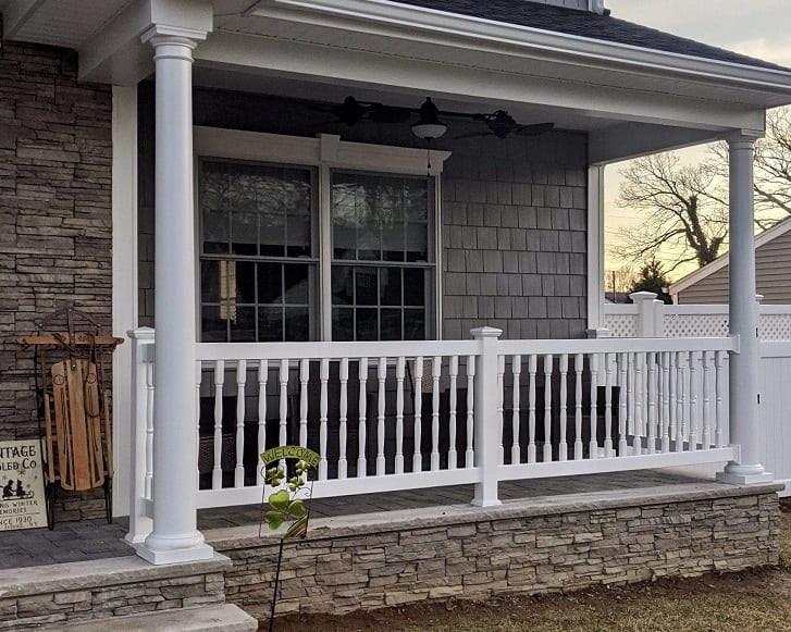 Outdoor Pvc Vinyl Railings Handrails Liberty Fence Railing   Vinyl Railing For Steps   Aluminum   Veranda   Hand   Square   Traditional