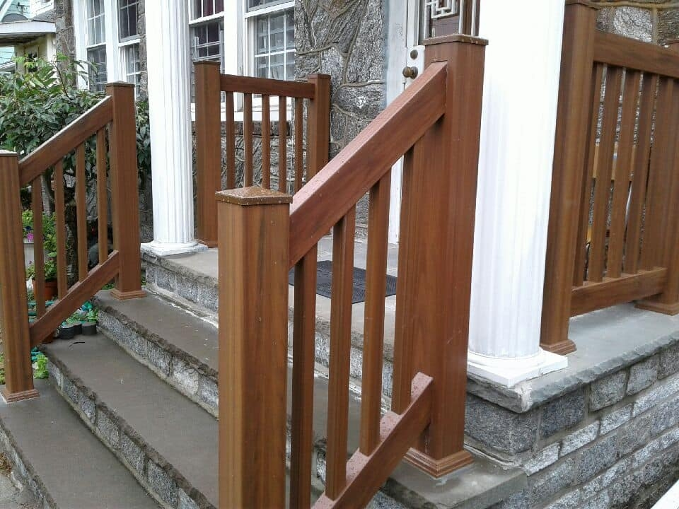 Outdoor Pvc Vinyl Railings Handrails Liberty Fence Railing | Outdoor Railings For Steps | Design | Hand | Porch | Front Door | Simple