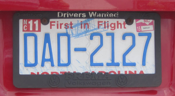 Indiana License Plate Sticker