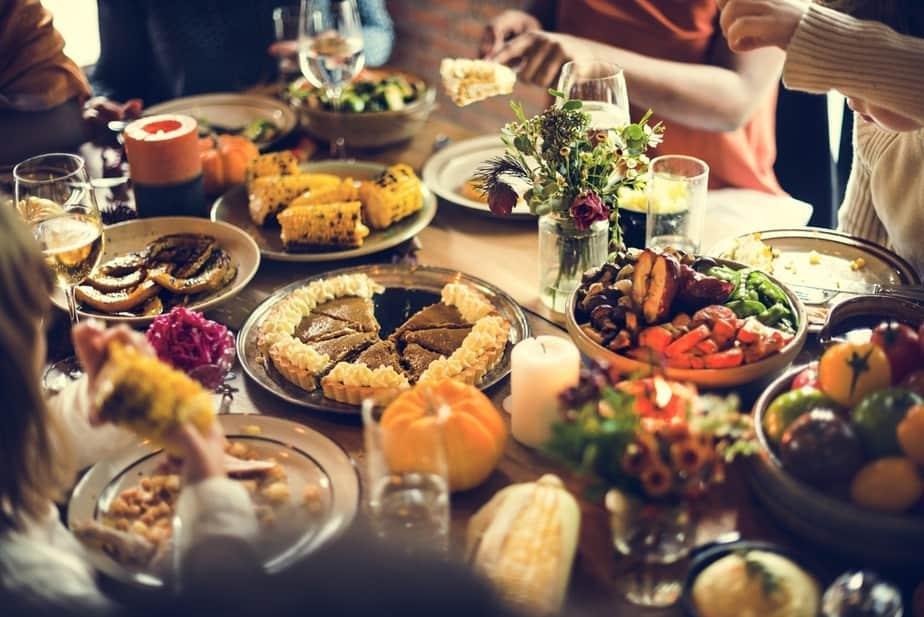 Family Dinner Table Food