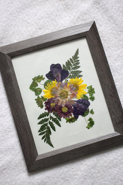 Iron Pressed Flower Botanical Prints   Life at Cloverhill wood frame iron pressed flowers