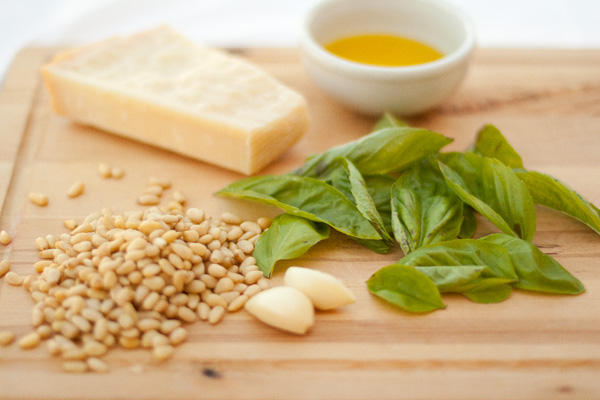 all ingredients for pesto