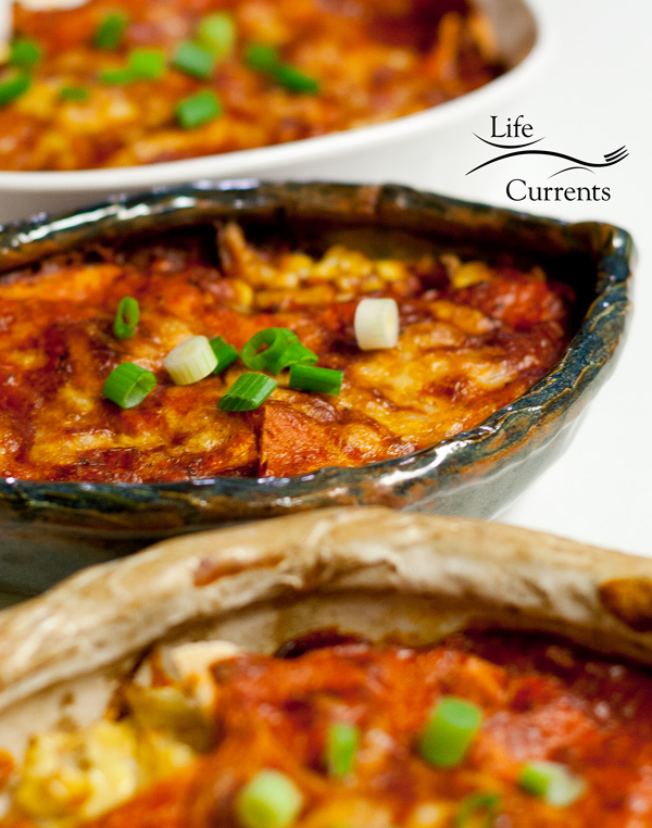 Vegetable Enchiladas with Red Chile Sauce