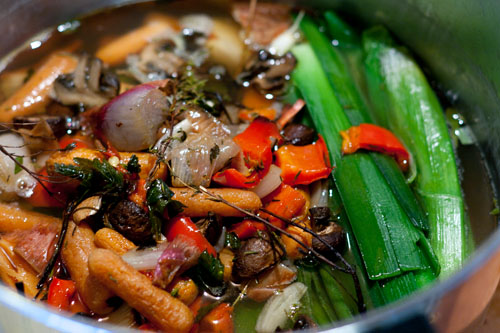 Vegetarian Roasted Vegetable Broth Recipe