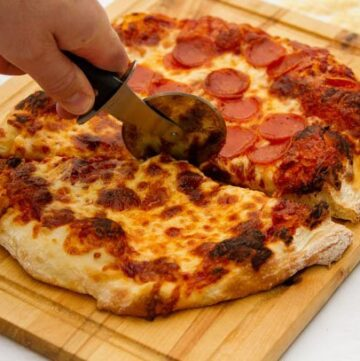 A pizza cutting wheel is a great tool for home pizza making