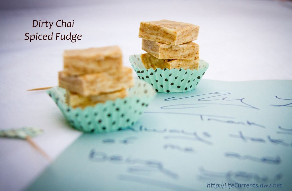 """Dirty Chai Spiced Fudge ... Not too sweet. Rich. Warm and spicy. And, what makes it """"dirty"""" chai? The addition of espresso powder. For me, it's the perfect addition to chai. #chai #fudge #coffee"""
