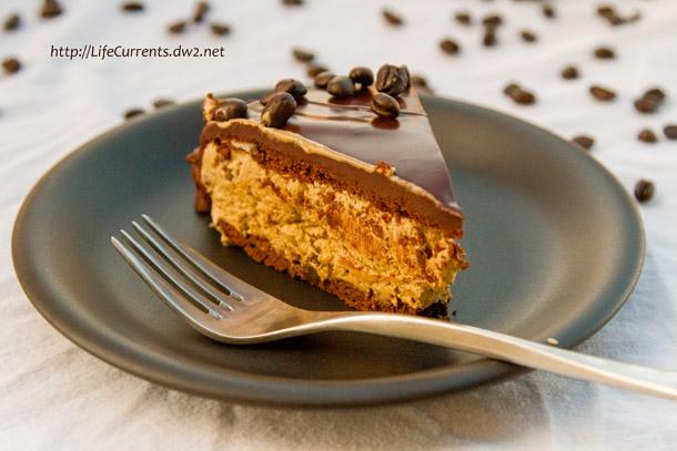 Frozen Mocha Cake with Chocolate Ganache Glaze or Birthday Dessert 2013! https://lifecurrentsblog.com