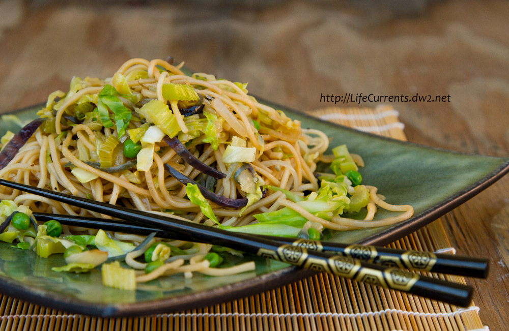 Noodles on a plate with chop sticks #noodles #yakisoba #chowMein