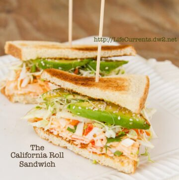 California Roll Sandwich  https://lifecurrentsblog.com