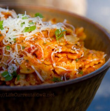 """Sun Dried Tomato Pesto Pasta made with Homemade Roasted """"Sun"""" Dried Tomatoes   Life Currents https://lifecurrentsblog.com"""